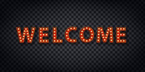 تابلو لاس وگاسی خوش آمدید