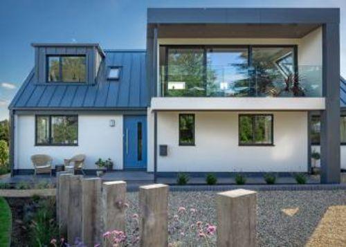 نمای ساختمان با ترکیب چوب ترموود