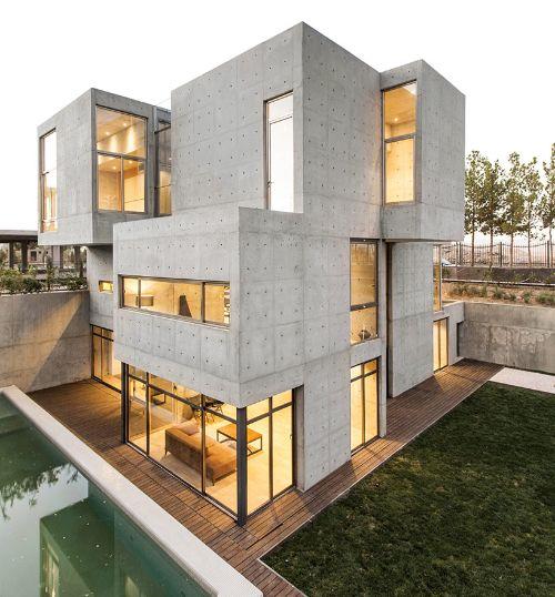 نمای ساختمان سیمانی